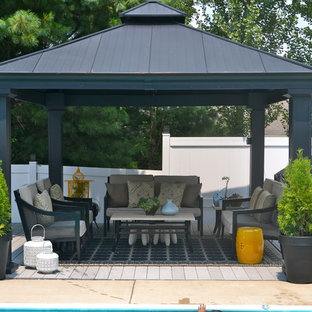 Inspiration for a contemporary patio remodel in Other