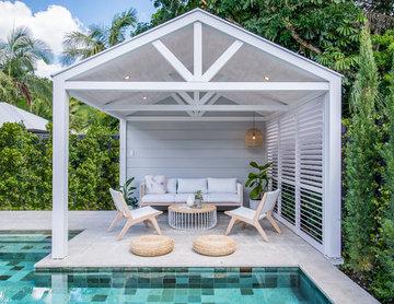 Geometric Pool & Cabana