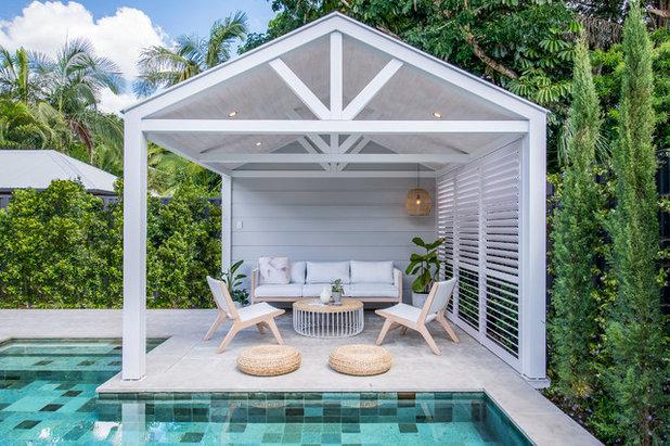 Beach Style Patio by Beau Corp Aquatics & Construction