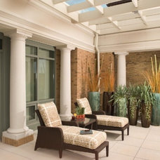 Mediterranean Patio by LORNA GROSS Interior Design