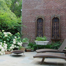 Eclectic Patio by Molly Scott Exteriors, LLC