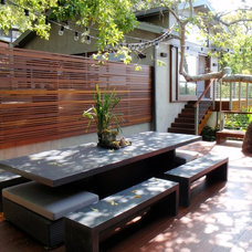 Eclectic Patio by David Hertz & Studio of Environmental Architecture
