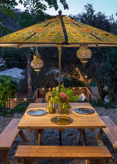 Eclectic Patio by Ggem Design Co.