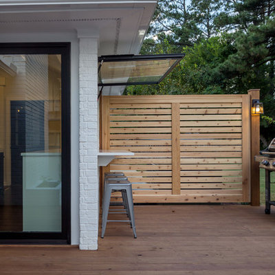 Transitional backyard patio photo in Raleigh