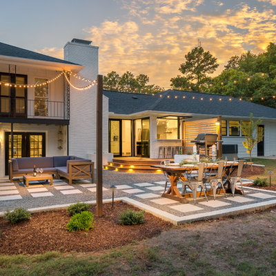 Inspiration for a transitional backyard patio remodel in Raleigh