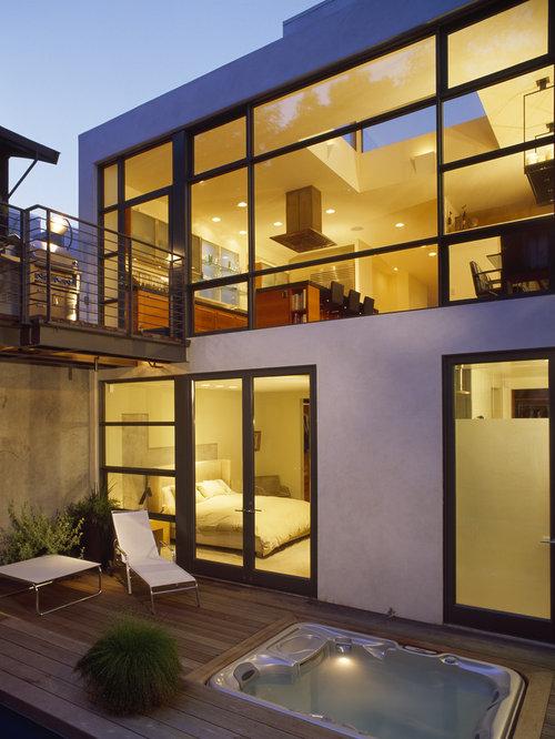sunken hot tub home design ideas pictures remodel and decor. Black Bedroom Furniture Sets. Home Design Ideas