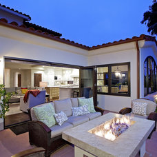 Mediterranean Patio by Christian Rice Architects, Inc.