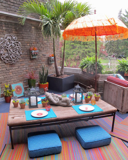 Eclectic Patio by Susan Cohan, APLD