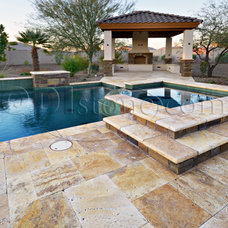 Traditional Patio by Quarries Direct International, LLC