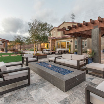 Gorgeous Infinity Pool with mulitple outdoor living spaces