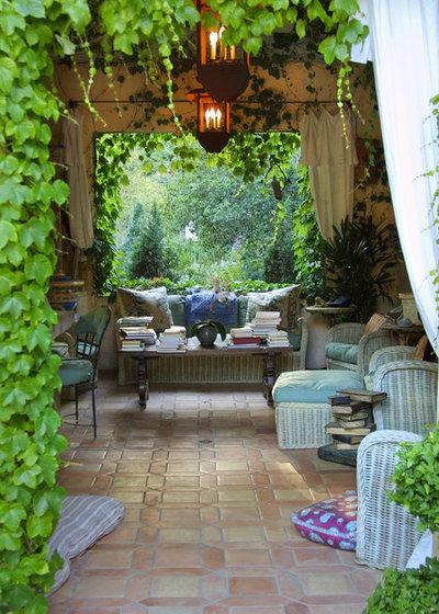 Mediterranean Patio by Margie Grace - Grace Design Associates
