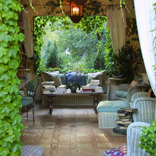 mediterranean patio by Margie Grace - Grace Design Associates