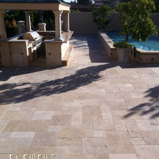 Traditional Patio by Element Construction Masonry & Paving