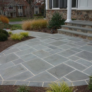 Grande Entrance & Retaining Wall - Bluestone, Retaining Wall, Steps, Walkway
