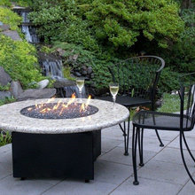 Gas Fire Pits With Curved Sectional
