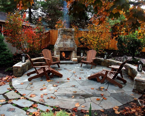 Inspiration For A Timeless Patio Remodel In Portland With A Fire Pit