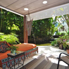 Eclectic Patio by MOKULUA High Performance Builder