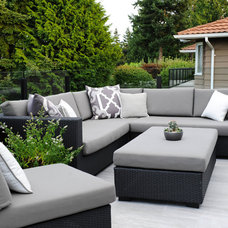 Transitional Patio by Sarah Gallop Design Inc.