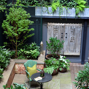 Beau Transitional Courtyard Patio Photo In New York