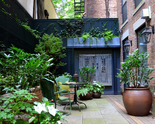 Example Of A Transitional Patio Design In New York