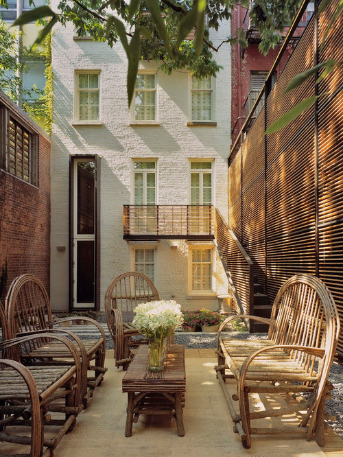 Townhouse Backyard Houzz