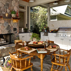 Traditional Patio by Designs by Dawn at the Lake Street Design Studio