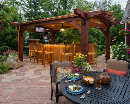 Best Pergola With Bar Design Ideas Amp Remodel Pictures Houzz