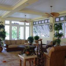 Tropical Patio by Barnett Design Studio