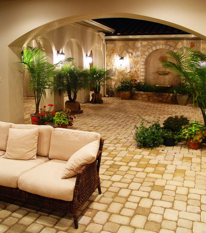 mediterranean patio by Alberto Jauregui Designs, Inc.
