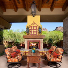 Rustic Patio by Bianchi Design