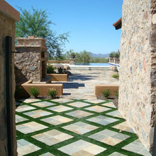 Mediterranean Patio by Hallmark Interior Design LLC