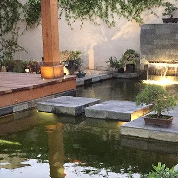 Halsted House Patio Koi Pond
