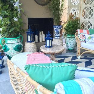 Idee per un patio o portico boho chic