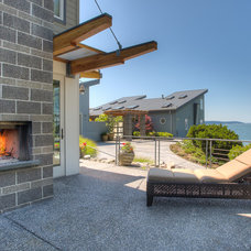 Beach Style Patio by Dan Nelson, Designs Northwest Architects