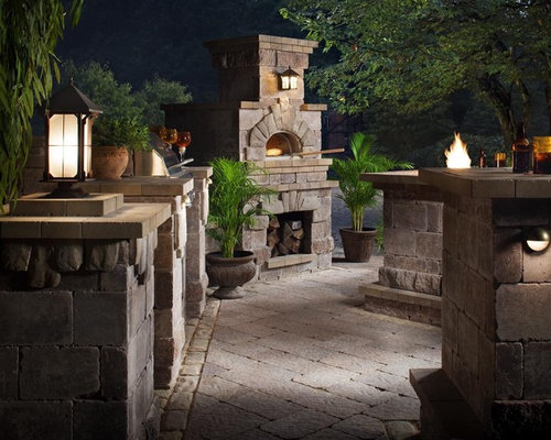 Pizza Oven Combo With Outdoor Fireplace Home Design Ideas Renovations Photos
