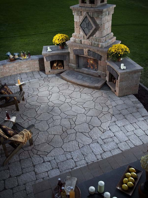 SaveEmail - Best Corner Outdoor Fireplace Design Ideas & Remodel Pictures Houzz