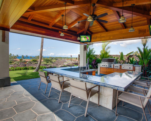48 Trendy Tropical Vancouver Outdoor Kitchen Design Ideas Houzz Magnificent Tropical Outdoor Kitchen Designs