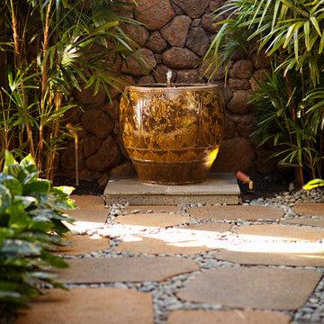 Hawaiian Plantation Retreat Outdoor Fountain