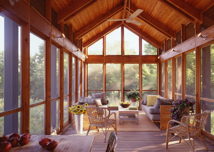 Traditional Patio by Billinkoff Architecture PLLC