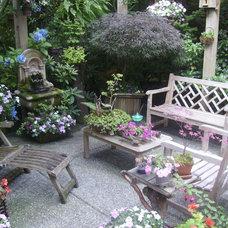 Eclectic Patio Heintz Backyard Respite