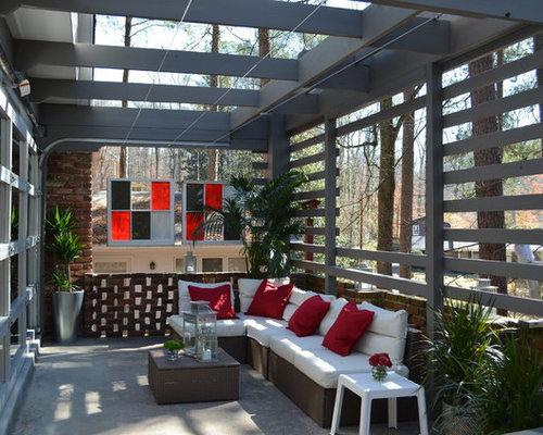 Houzz industrial atlanta patio design ideas remodels for 88 kirkland salon reviews