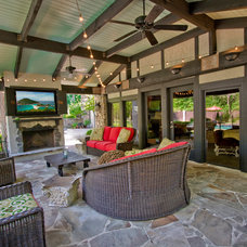 Contemporary Patio by 3wiredesigns
