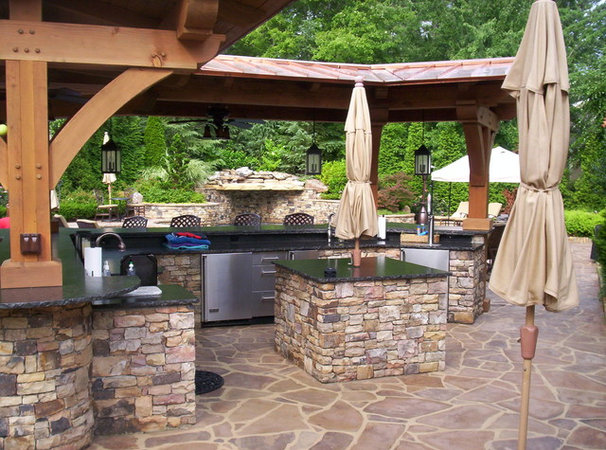 Traditional Patio by Douglas C Lynn, LLC Landscape Architecture
