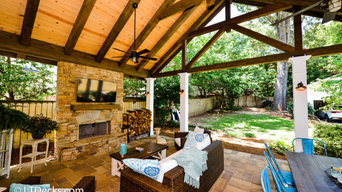 Highlands Rustic Covered Patio