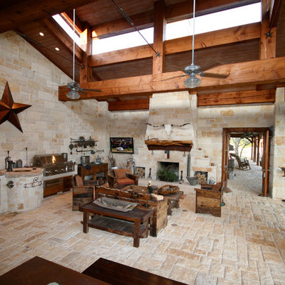 Hill Country Style Outdoor Living Area Design Ideas, Pictures ...