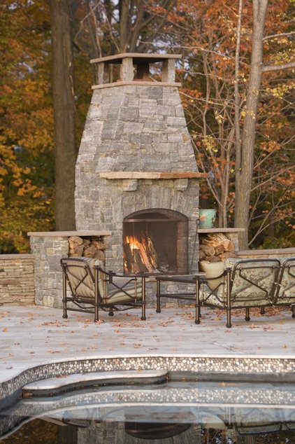 Traditional Patio by A J Miller Landscape Architecture PLLC