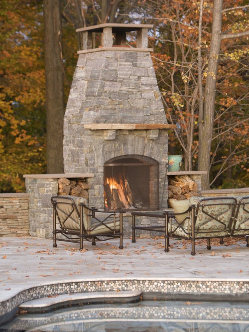 SaveEmail - Outdoor Fireplace Chimney Cap Ideas, Pictures, Remodel And Decor