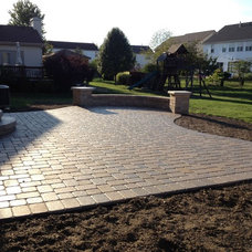 Contemporary Patio by Two Brothers Brick Paving