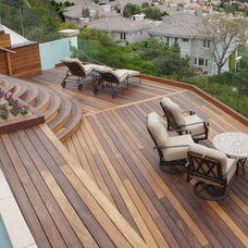 Contemporary Patio by LA-Decks and Construction