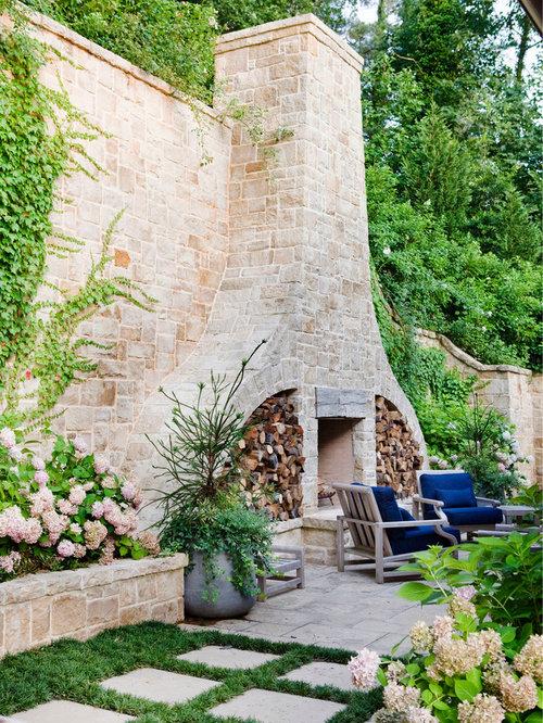 outdoor fireplace wall houzz build an outdoor fireplace from breeze blocks built-in outdoor fireplace designs